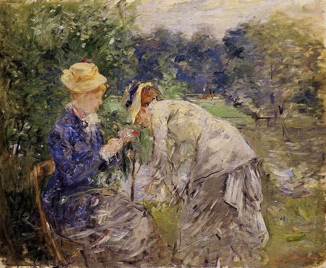 """""""I Boulogne-skogen"""" av Berthe Morisot"""